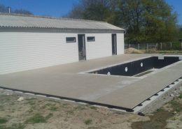 Terrasse de piscine sur plots